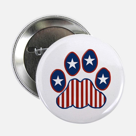 "Patriotic Paw Print 2.25"" Button (10 pack)"