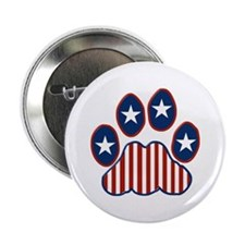 "Patriotic Paw Print 2.25"" Button"