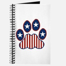Patriotic Paw Print Journal