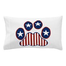 Patriotic Paw Print Pillow Case