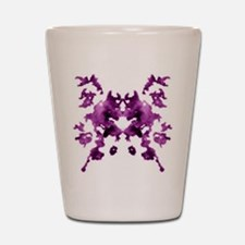 Purple Rorschach inkblot Shot Glass