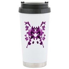 Purple Rorschach inkblot Travel Mug