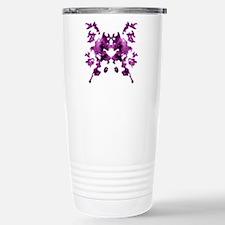 Purple Rorschach inkblot Travel Mug