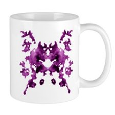 Purple Rorschach inkblot Mug