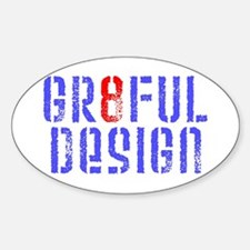 GR8FUL DESIGN LOGO (PAINT) Sticker (Oval)