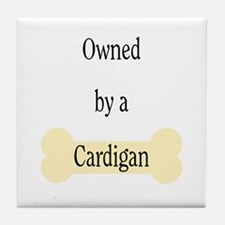 Owned by a Cardigan Tile Coaster