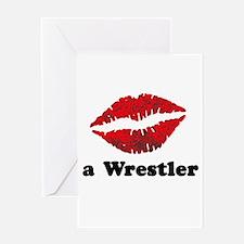 KissAWrestler.png Greeting Card