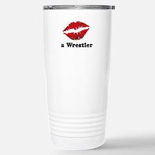 KissAWrestler.png Stainless Steel Travel Mug