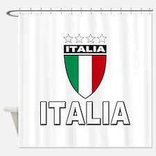 Italian World Cup Soccer Shower Curtain