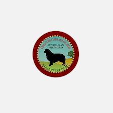 Australian Shepherd Mini Button