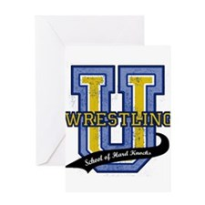 WrestlingU.png Greeting Card