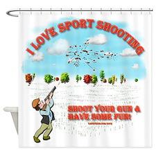 I Love Sport Shooting Shower Curtain