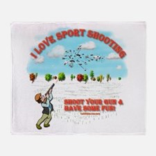I Love Sport Shooting Throw Blanket