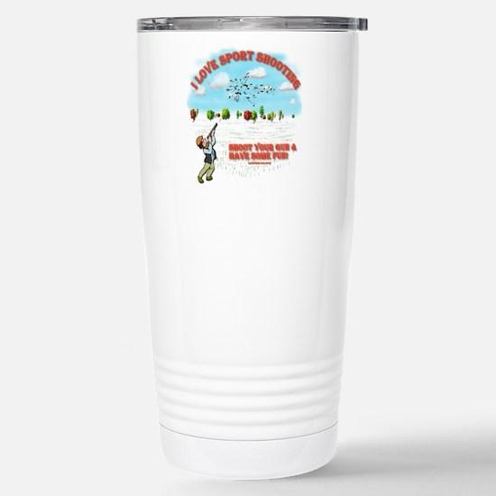 I Love Sport Shooting Stainless Steel Travel Mug