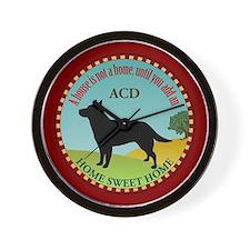 Australian Cattle Dog Wall Clock