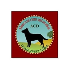"Australian Cattle Dog Square Sticker 3"" x 3"""