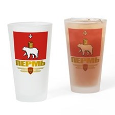 Perm Flag Drinking Glass