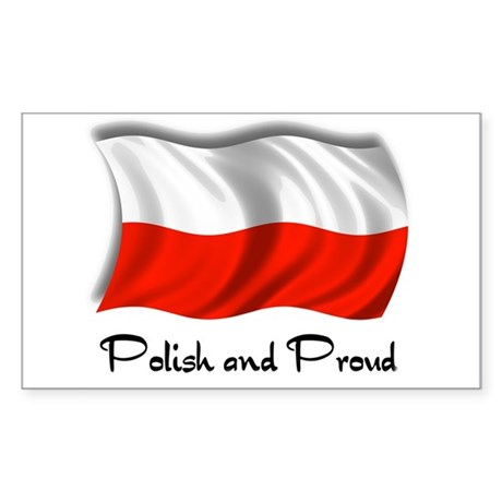 Polish and Proud Rectangle Sticker