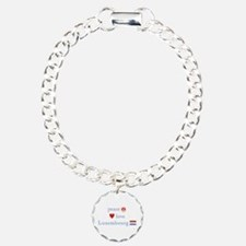 Peace, Love and Luxembourg Bracelet