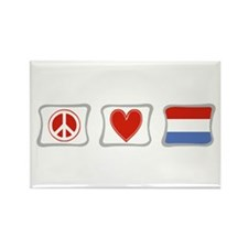Peace, Love and Luxembourg Rectangle Magnet