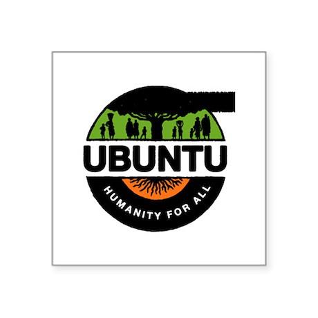 "New Improved Ubuntu logo Square Sticker 3"" x 3"" by TheUbuntu"