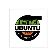 "New Improved Ubuntu logo Square Sticker 3"" x 3"""
