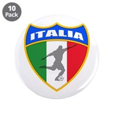 """Italian World Cup Soccer 3.5"""" Button (10 pack)"""