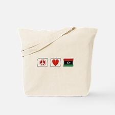 Peace, Love and Libya Tote Bag