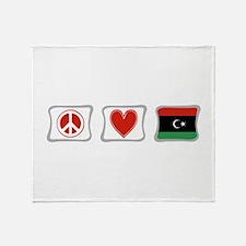 Peace, Love and Libya Throw Blanket