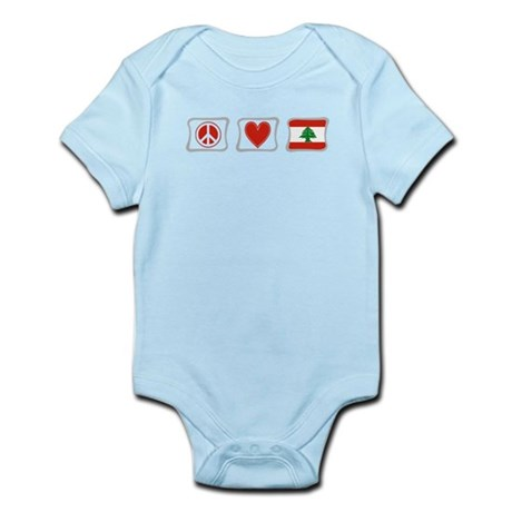 Peace, Love and Lebanon Infant Bodysuit