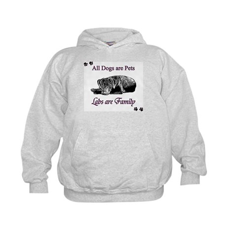 Labs are Family Kids Hoodie