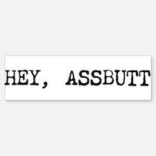 """Supernatural """"ASSBUTT"""" Bumper Bumper Bumper Sticker"""