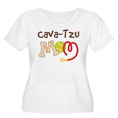 Cava-Tzu Dog Mom Women's Plus Size Scoop Neck T-Sh