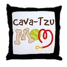 Cava-Tzu Dog Mom Throw Pillow