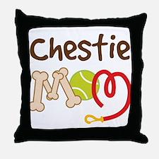 Chestie Dog Mom Throw Pillow