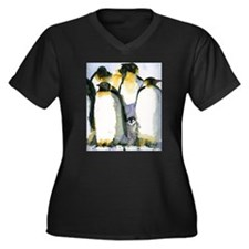 Just Chillin Women's Plus Size V-Neck Dark T-Shirt