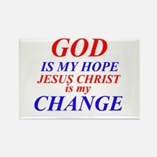 GOD IS HOPE Rectangle Magnet