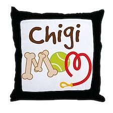 Chigi Dog Mom Throw Pillow