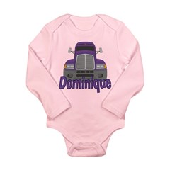 Trucker Dominique Long Sleeve Infant Bodysuit