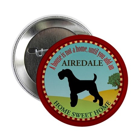 "Airedale 2.25"" Button"