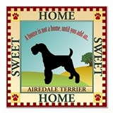 Airdale terrier Square Car Magnets