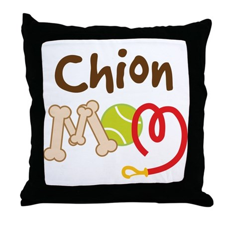 Chion Dog Mom Throw Pillow