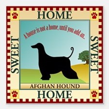 "Afghan Square Car Magnet 3"" x 3"""