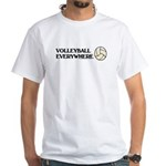 TOP Volleyball Everywhere White T-Shirt
