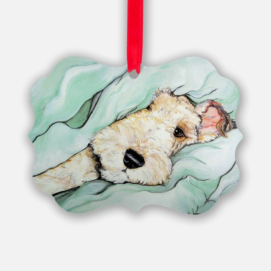 Napping Wire Fox Terrier Ornament