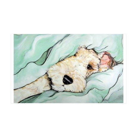 Napping Wire Fox Terrier 35x21 Wall Decal