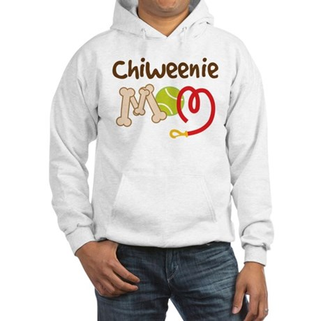 Chiweenie Dog Mom Hooded Sweatshirt