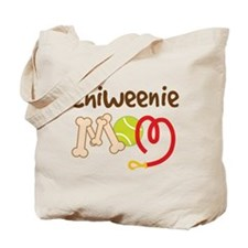 Chiweenie Dog Mom Tote Bag