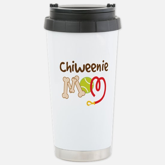 Chiweenie Dog Mom Stainless Steel Travel Mug