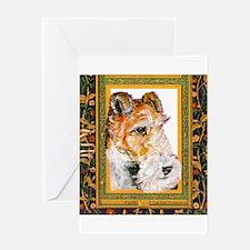 Vintage Fox Terrier Greeting Card